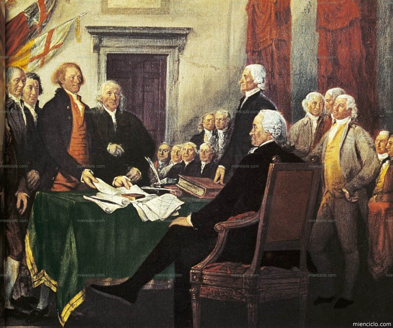 Resultado de imagen para Fotos de aprobación de la Declaración de la Independencia en Filadelfia de EEUU