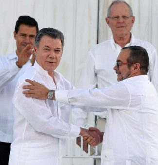 El presidente de Colombia Juan Manuel Santos gana el premio Nobel de la Paz 2016