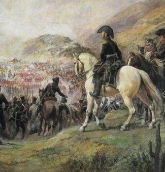 El 14 de febrero de 1817 el general argentino José de San Martín entra triunfal en Santiago de Chile