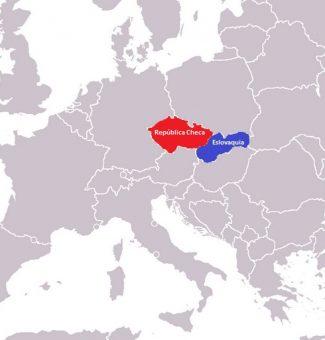 Un 1 de enero de 1993 Checoslovaquia se divide en República Checa y Eslovaquia